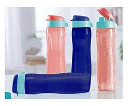 Tupperware Aquaslim Flip Top Water Bottle 750ml - 4pcs set
