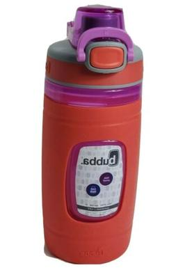 Bubba Flo Kids Water Bottle with Silicone Sleeve, 16 oz, Cor
