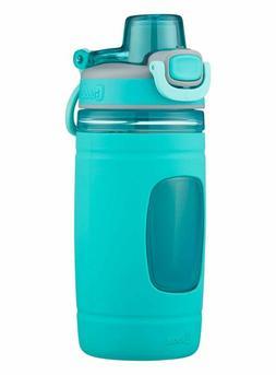 Bubba Flo Kids Water Bottle with Silicone Sleeve, 16 oz, Aqu