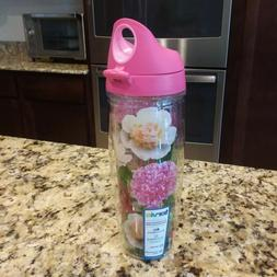 floral 24 oz water bottle with hot