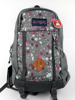 Jansport Floral Grey Backpack