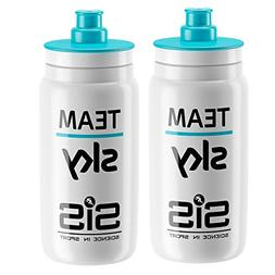 Elite Fly Team Sky SIS Cycling Water Bottles - 550ml, White
