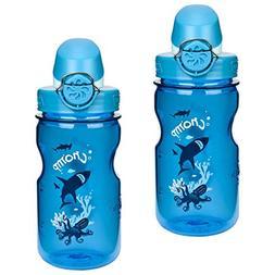 Nalgene On The Fly Kids 12oz Water Bottle Purple Hoot w/ Gre