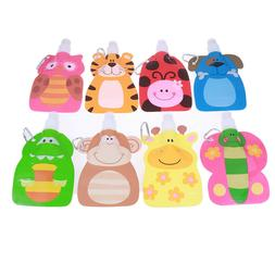 Foldable Cartoon Animal Water Drinking Cup Bag Drink Bottle