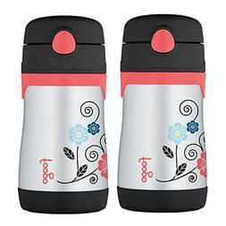 Thermos Foogo Vacuum Insulated  10 Oz Straw Bottle - Poppy P
