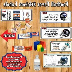Football NFL Birthday Favor Address Water Bottle Candy Stick