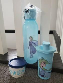 Tupperware Frozen II Water Bottle Cup Bundle Set