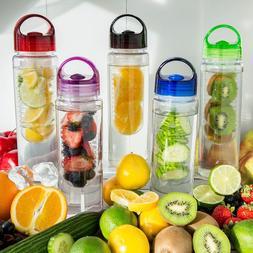 Fruit Infuser Water Bottle 24 Oz - BPA Free, Tritan Plastic