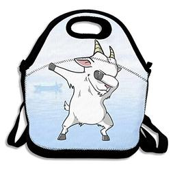 Kkajjhd Funny Dabbing Goat Tote Bags And Velcro Tote Bags, T