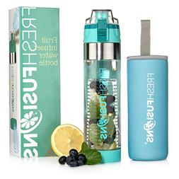 Fresh Fusions Fruit Infuser Water Bottle 24 oz - with Insula