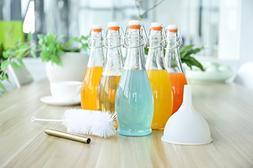 mockins 6 Pack 16 Oz Glass Bottle Set With Swing Top Stopper