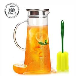 Glass Water Carafes & Pitchers Pitcher With Stainless Steel
