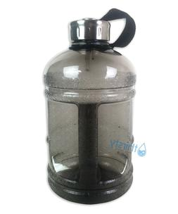 Grey BPA Free Half Gallon Water Bottle Drinking Gym Jug Cant