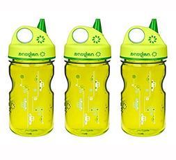 Nalgene Grip-n-Gulp Everyday Kids 12 oz Water Bottle  - 3 Pa