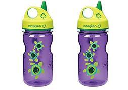 Nalgene Grip 'n Gulp Kids Travel Water Bottle - 12 Ounce - P