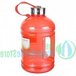 Half Gallon 64oz BpA Free Drinking Water Bottle 2 Liter Hand