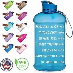 HydroMATE Half Gallon Motivational Water Bottle w/ Time Mark