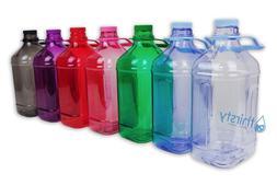 Half Gallon Water Bottle Handle Drinking Gym Canteen Jug Con