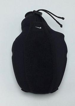 Nike Hand Held Water Bottle Running Carrier 6oz Black / Whit
