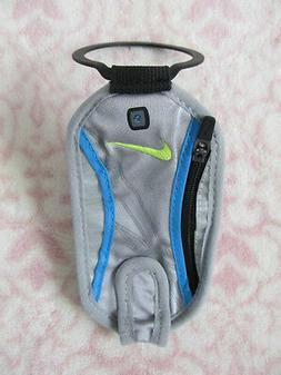 Nike Hand Held Water Bottle Wallet / Pouch Color Wolf Grey/B