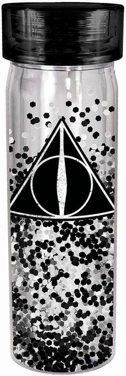 Harry Potter Deathly Hallows Glitter 18 oz Double Walled Wat
