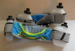 Nike Hydration Belt 4 Water Bottle Blue Glow/Volt Mens Women