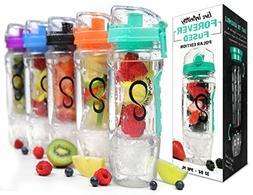 Live Infinitely 32 oz. Infuser Water Bottles - Featuring Fir