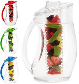 Water Infuser Pitcher & Gourmet Recipe eBook  | BPA Free Fru