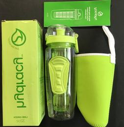 Hydracy Infusion Water Bottle Large 1 Liter 32 Oz BPA Lime g