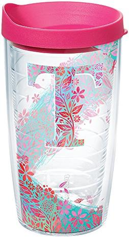 Tervis 1240102 Initial-T Botanical Insulated Tumbler with Wr