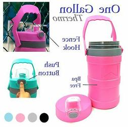 Insulated Double Wall Water Bottle w/ handle Thermo Bpa Free