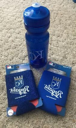 KC Royals MLB 24oz Water Bottle With 2 Can Koozies