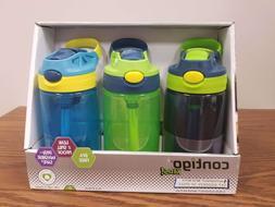 Contigo Kids Autospout Gizmo Water Bottles, 14oz for Boys