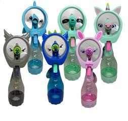 Kids Portable Water Bottle Mister Spray Cooling Fan Handheld