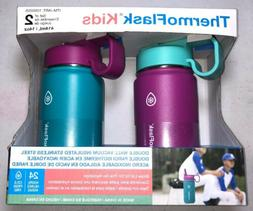 ThermoFlask Kids Vacuum Insulated SS 14oz Water Bottle 2-Pac