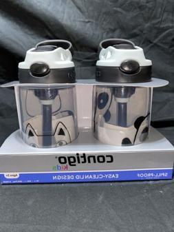 Contigo Kids Water Bottle 2pk 14oz Spill Proof Easy Clean Li