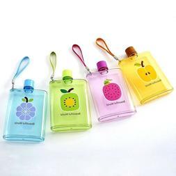 Kids Water Bottle Plastic Fruit Print Design Handy Rope for