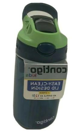 Contigo Kids Water Bottle + Straw Easy-Clean Lid Blueberry G