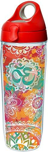 Tervis 1204542 Yoga Om Tumbler with Wrap and Red with Gray L