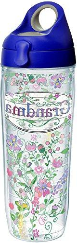 Tervis 1230699 Grandma Flower Tumbler with Wrap and Blue wit