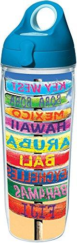 Tervis 1231214 Tropical Destination Signs Tumbler with Wrap