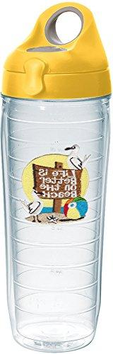 Tervis 1231387 Life is Better on the Beach Tumbler with Embl
