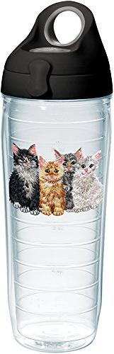 Tervis 1231510 Kittens Tumbler with Emblem and Black with Gr