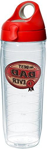 Tervis 1231577 Hallmark - Dad Tumbler with Emblem and Red wi
