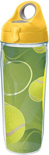 Tervis 1232469 Tennis Balls Tumbler with Wrap and Yellow Lid