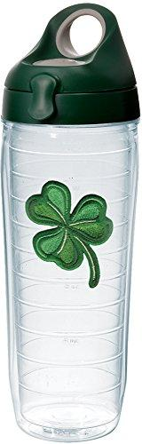 Tervis 1232531 Shamrock Tumbler with Emblem and Hunter Green