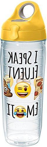 Tervis 1232810 emoji - I Speak Fluent Tumbler with Wrap and