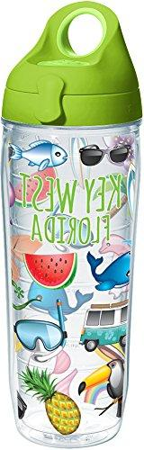 Tervis 1260411 Emoji-Tropical Key West Insulated Tumbler wit