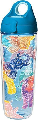 Tervis 1279558 Mehndi Elephants Insulated Tumbler with Wrap