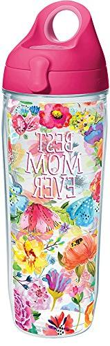 Tervis 1286450 Best Mom Ever Floral Tumbler with Wrap and Pa
